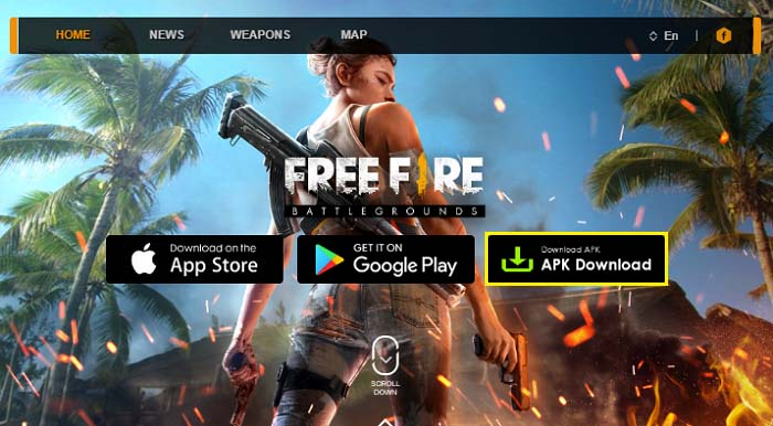Устанавливаем Free Fire Battlegrounds